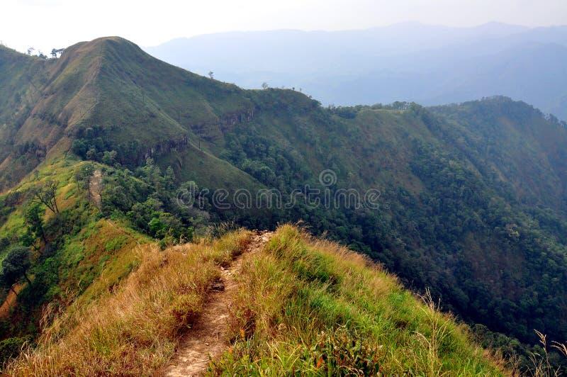 Mountain ridge. This top mountain ridge of Khao-Chang-Puak at Kanchanaburi, Thailand stock photo