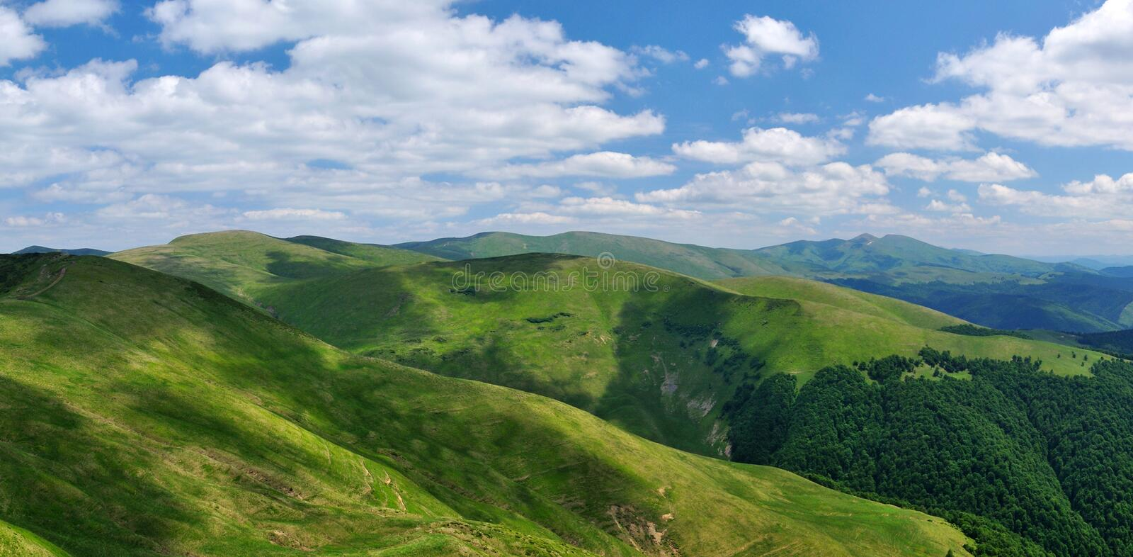 Download Mountain Ridges Covered With Meadows Stock Image - Image: 19953287