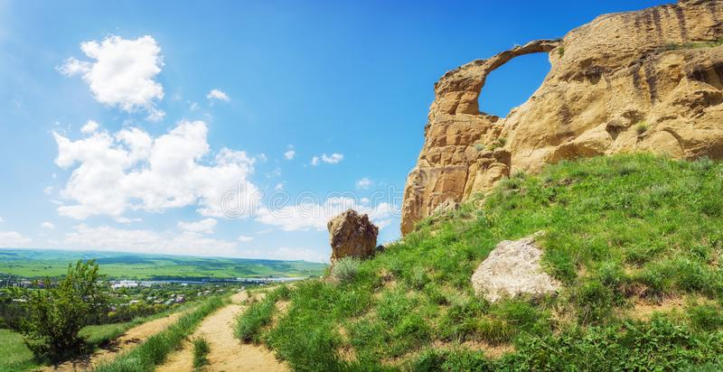 Mountain `Ring` near the Kislovodsk, Russia. Mountain `Ring` near the Kislovodsk, Stavropol region, Russian Federation stock photography