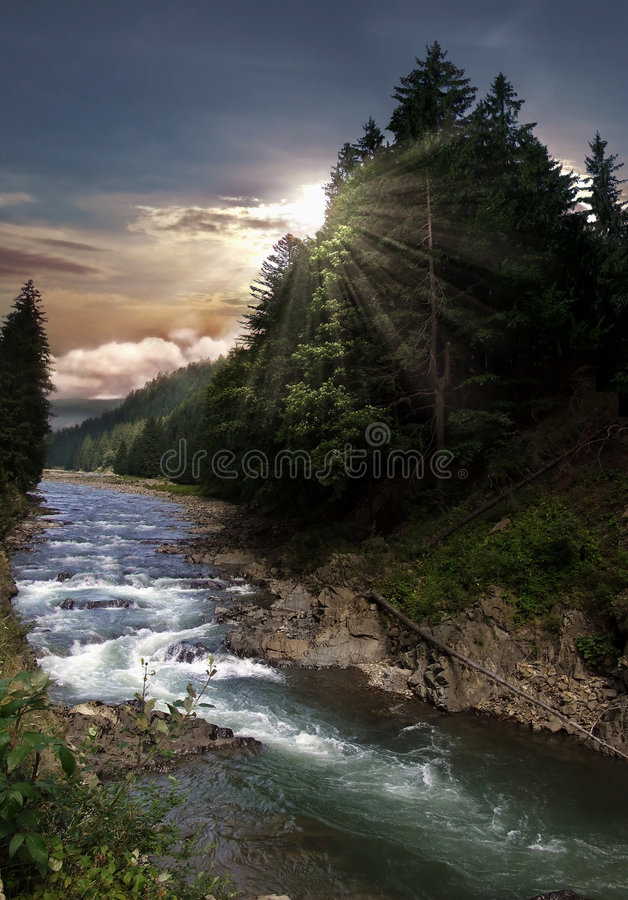 Download Mountain river stock image. Image of scenery, foam, nature - 6258161