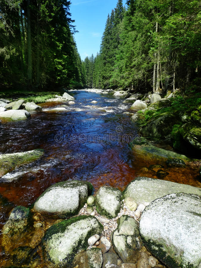 Download Mountain River With Big Stones Stock Image - Image: 14618435