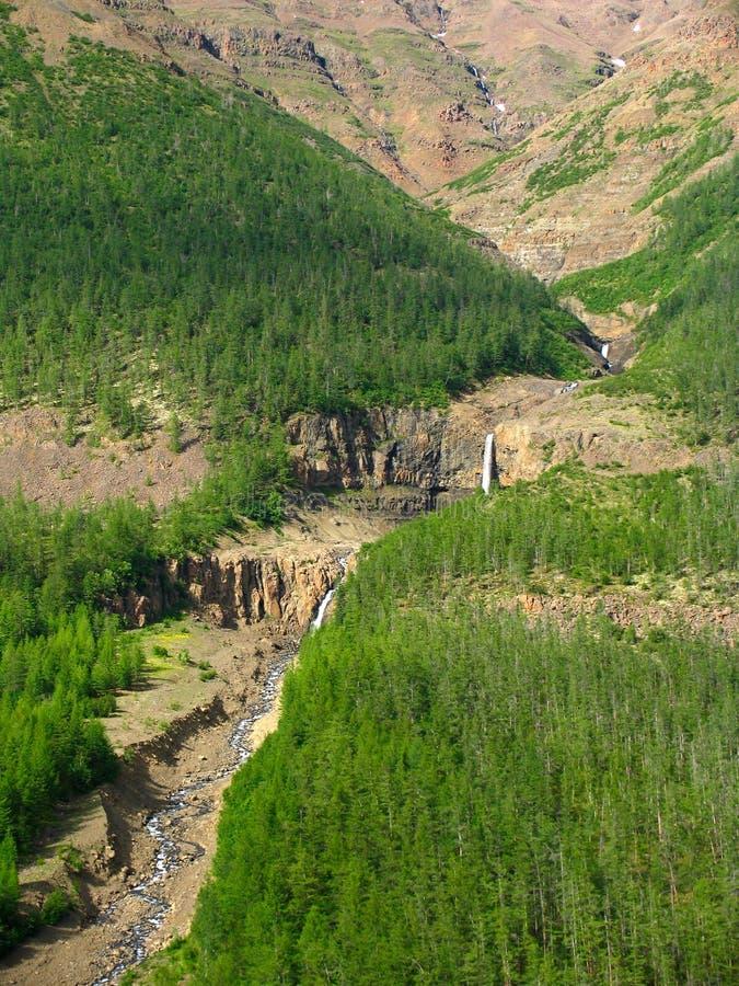 Mountain river cascade royalty free stock photos