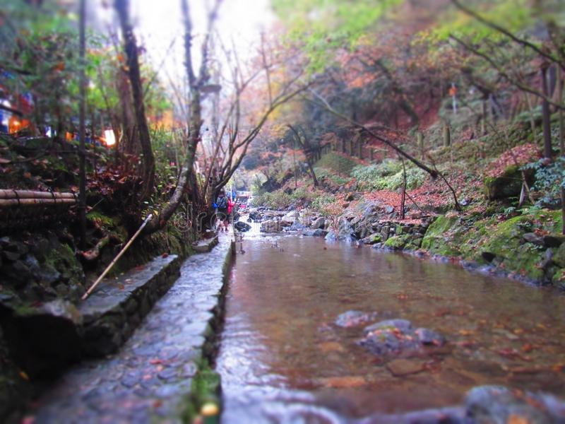 Mountain river Japan stock images