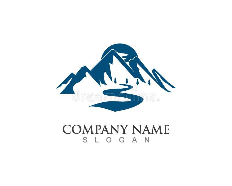 Mountain river nature landscape logo and symbol royalty free illustration