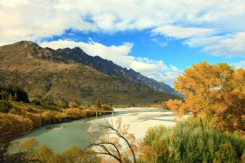 Download Mountain And River In Queenstown Stock Photo - Image of global, franz: 22701814