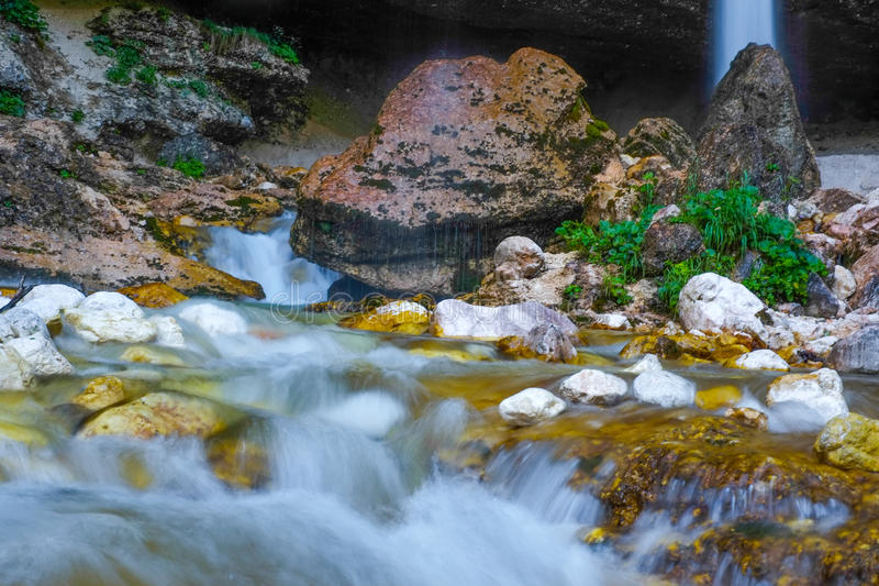 Mountain river in Slovenia royalty free stock images