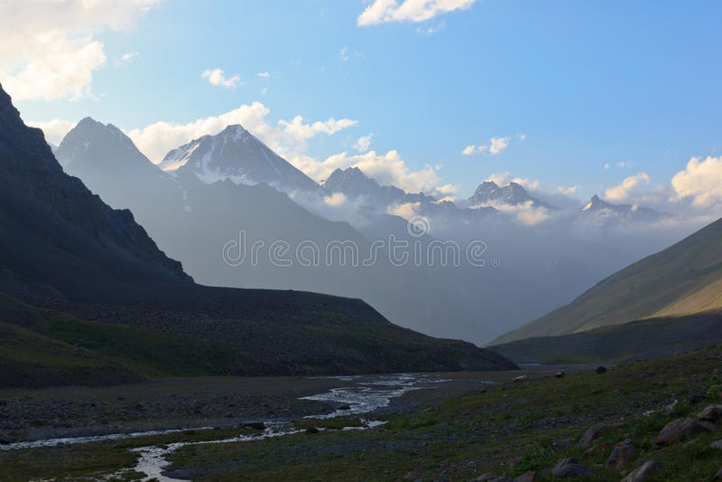 Mountain river Tien Shan royalty free stock photo