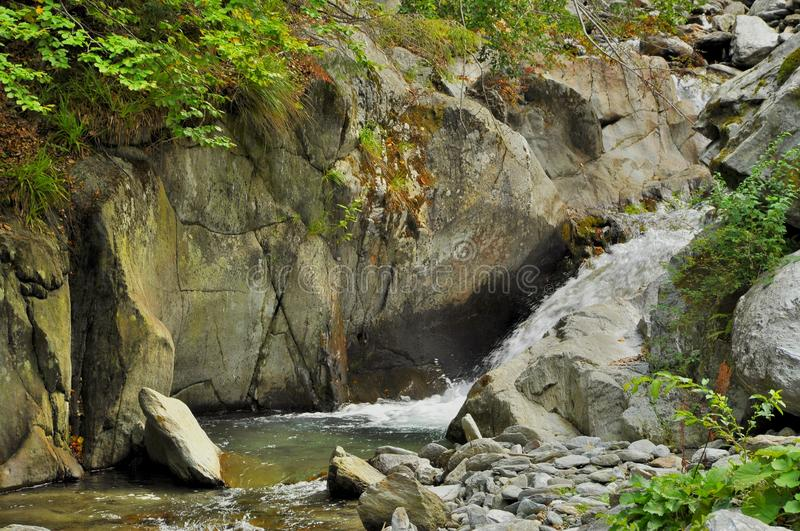 Mountain River whit cascade. Mountain River in Carpatians mounthains royalty free stock image