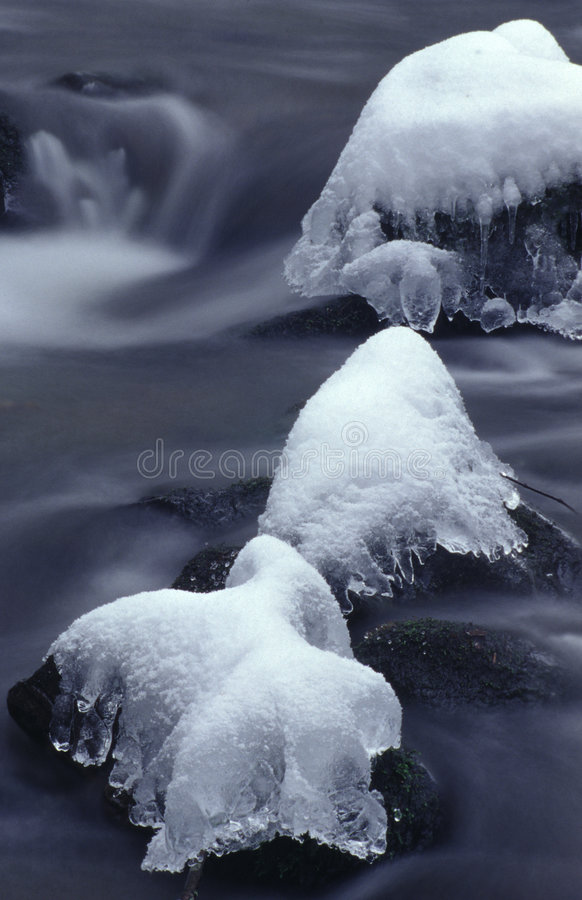 Mountain river in the winter royalty free stock photo