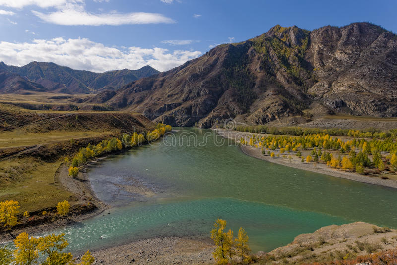 Mountain rivers royalty free stock photography