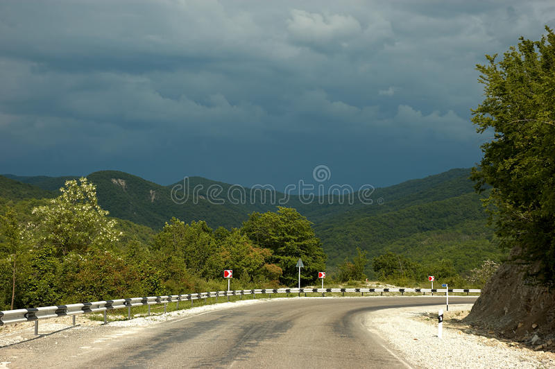 Download Mountain road stock image. Image of view, mountain, bend - 10438499