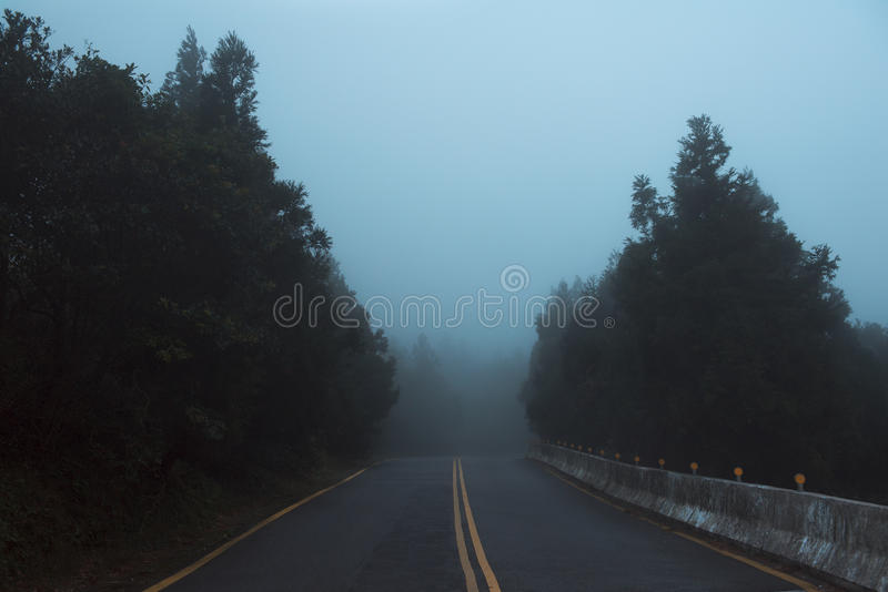 Download Mountain Road stock photo. Image of woods, cold, dusk - 27451126