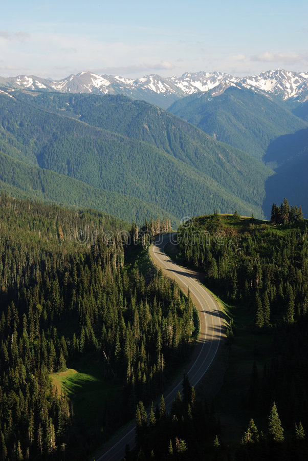 Download Mountain road stock photo. Image of scenic, parkway, blue - 4517562