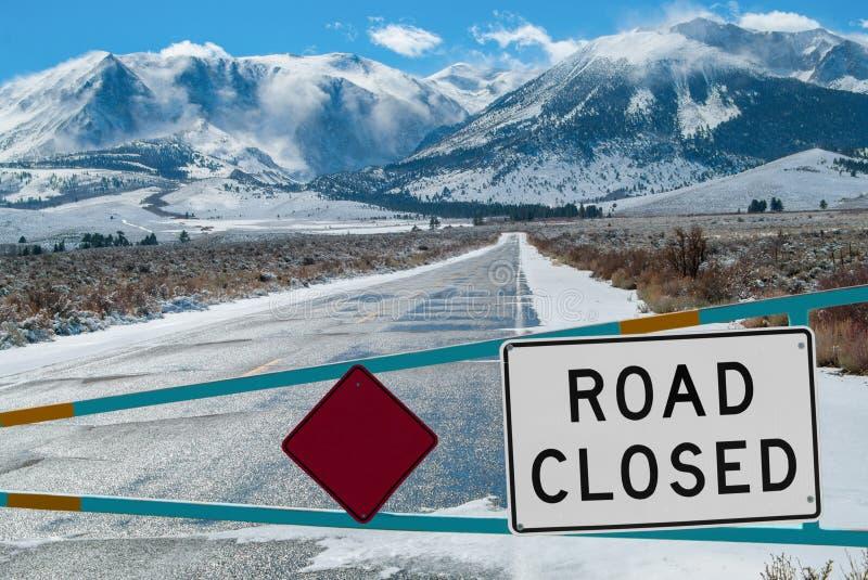 Mountain Road Closed royalty free stock photos