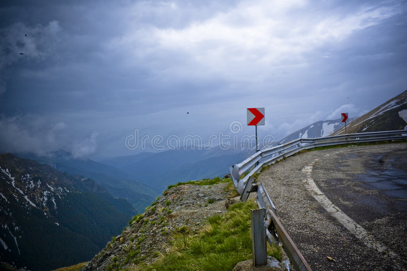Mountain road curve stock image