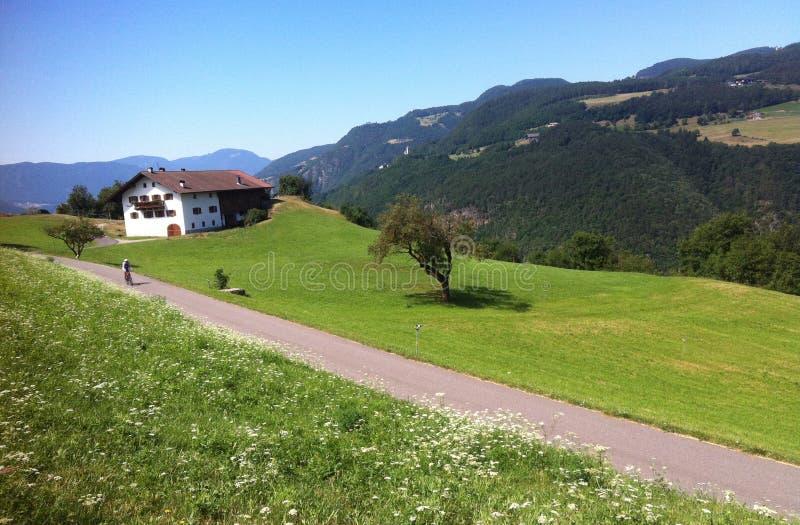 Mountain road in Italian Alps royalty free stock photography