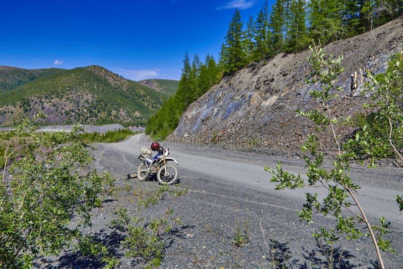 Download Mountain Road. A Motorcycle Enduro. Kolyma Stock Image - Image: 64728819