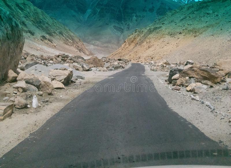 The mountain road in Northern India royalty free stock photography