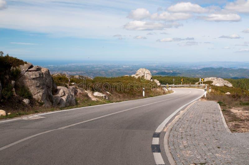 Mountain road in the Serra de Monchique in Portugal stock image