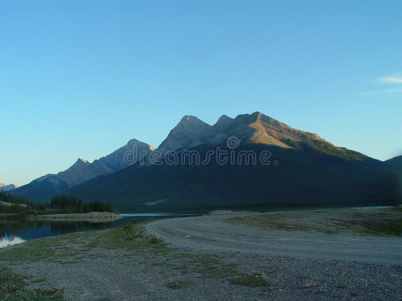 Download Mountain road at sunset stock image. Image of boulevard - 364599