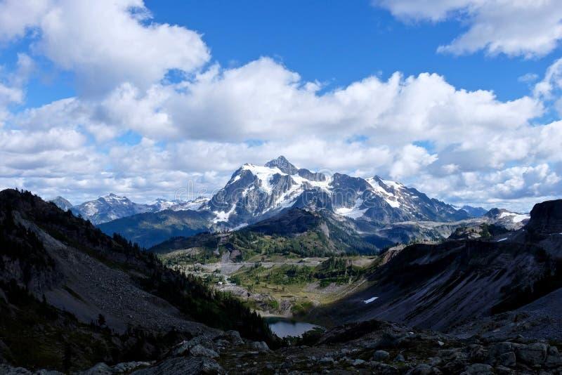Mountain road to ski area. stock image