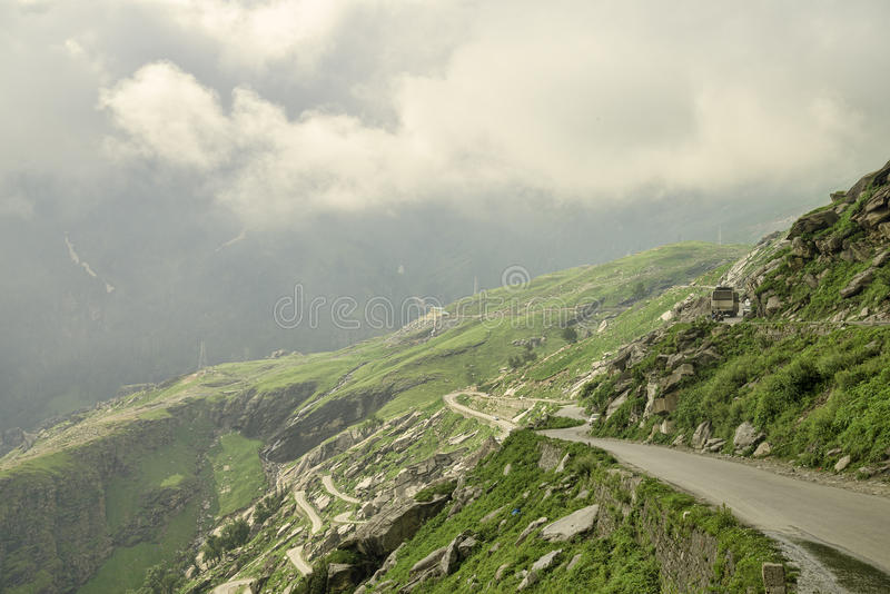 Mountain road with traffic royalty free stock photos