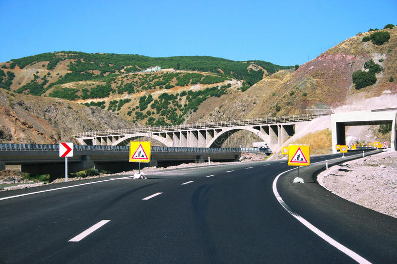 Mountain road in Turkey royalty free stock image