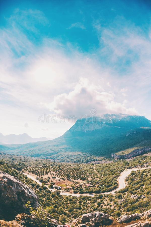 Mountain road in Turkey royalty free stock photography