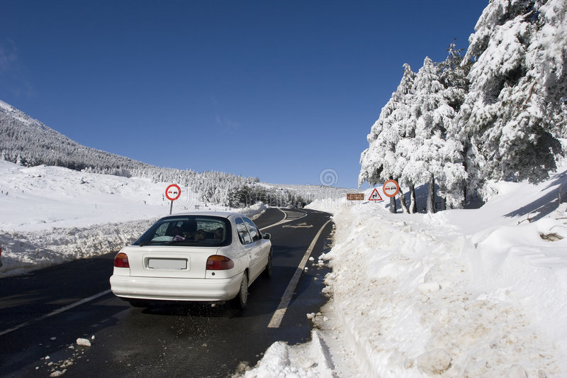 Download Mountain road in winter stock photo. Image of holiday - 8087558