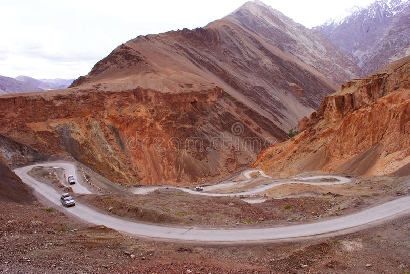 Download Mountain roads in Ladakh stock image. Image of highways - 18100129