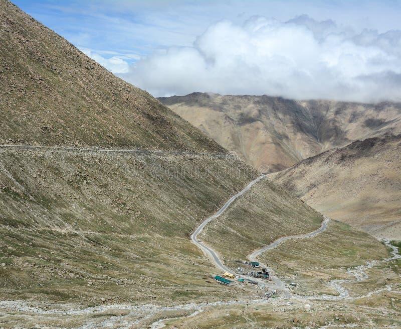 Mountain roads in Ladakh, India royalty free stock photo