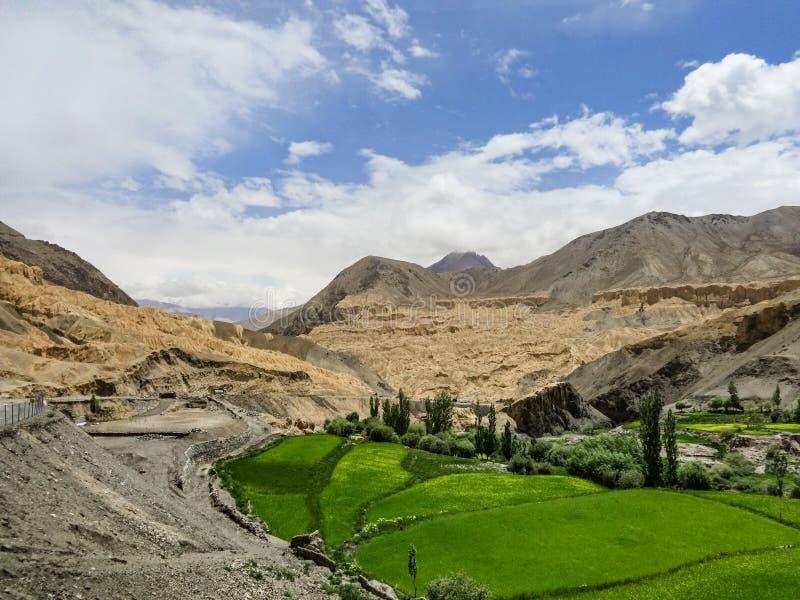 Mountain roads in Ladakh stock photo