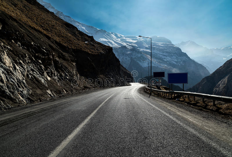 Mountain roads royalty free stock image