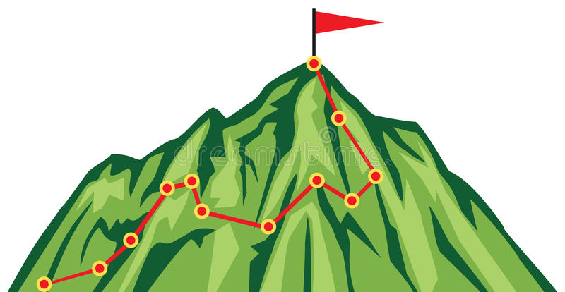 Mountain route stock illustration