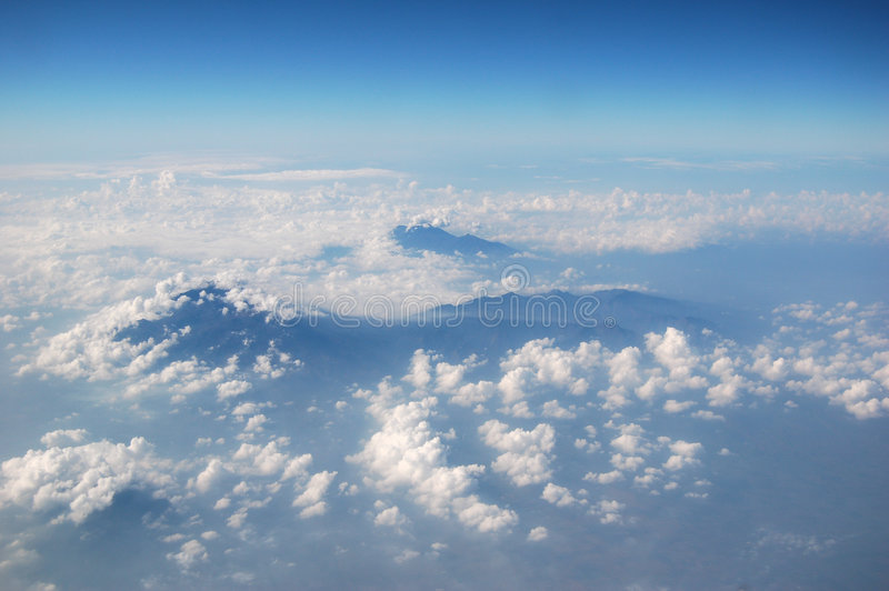 Mountain's peak from the sky royalty free stock images