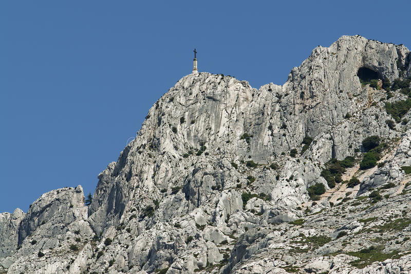 The Mountain Saint Victoire In South France Royalty Free Stock Images
