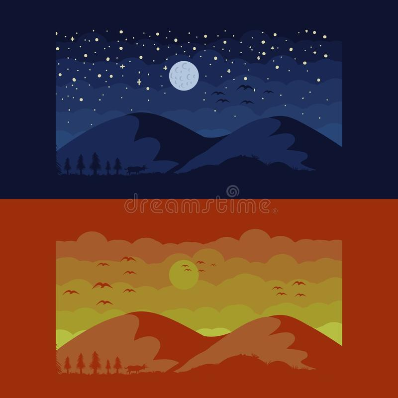 Mountain scapes vector illustration design royalty free illustration