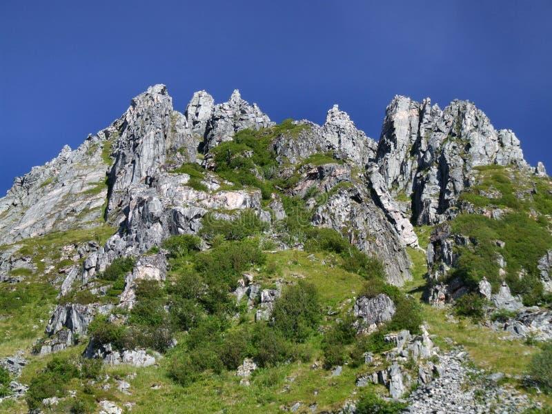 Mountain scenery in Scandinavia stock images