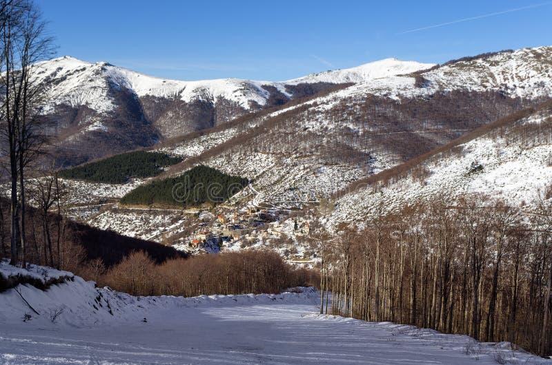 Mountain scenery in Vigla, Florina's ski center, Greece. Mountain scenery in Vigla, Florina's ski center stock photos
