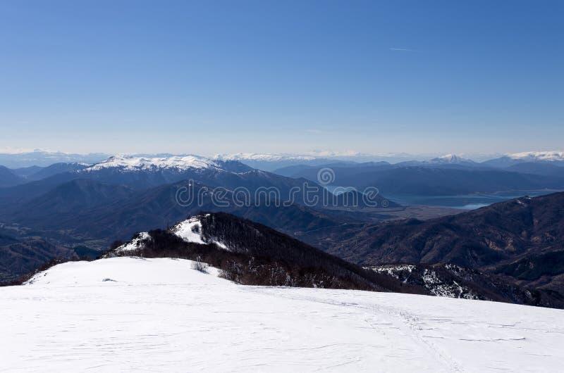 Mountain scenery in Vigla, Florina's ski center, Greece. Mountain scenery in Vigla, Florina's ski center royalty free stock image