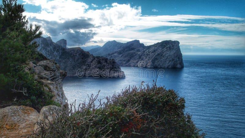Mountain and Sea & x22;Sa Calobra& x22; royalty free stock photos