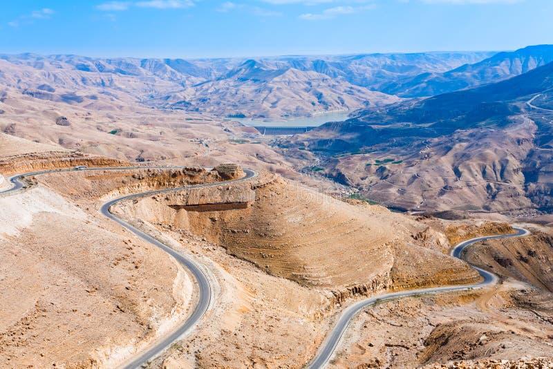 Mountain serpentine road, Jordan - 2 stock photos