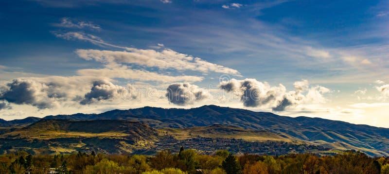 Mountain Silhouette royalty free stock photos