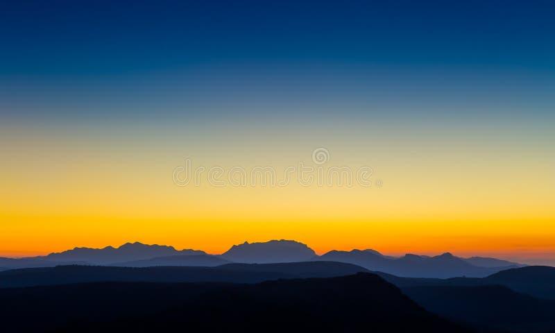 Mountain Silhouette royalty free stock image