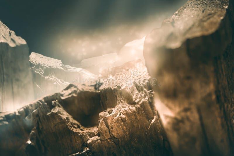 Mountain simulation nature scene royalty free stock image