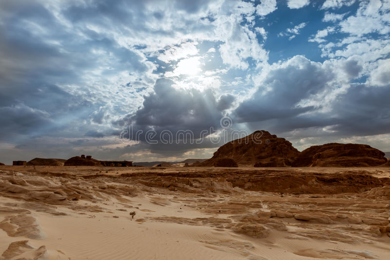 Mountain in Sinai desert Egypt royalty free stock photos