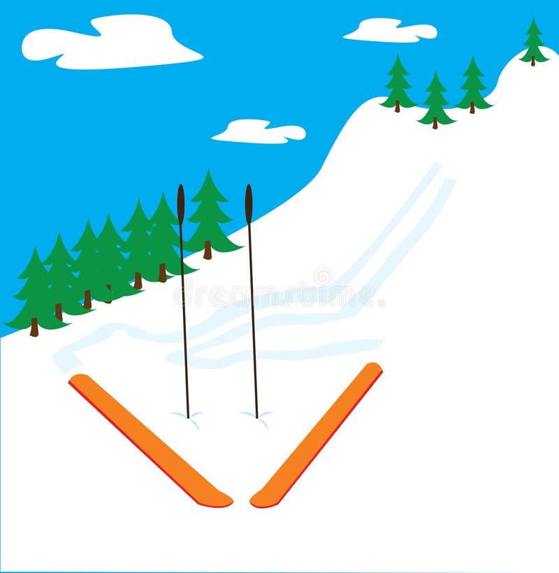 Mountain ski stock photo