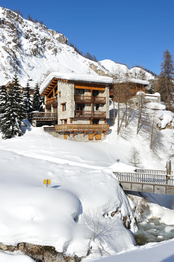Mountain ski resort stock photography