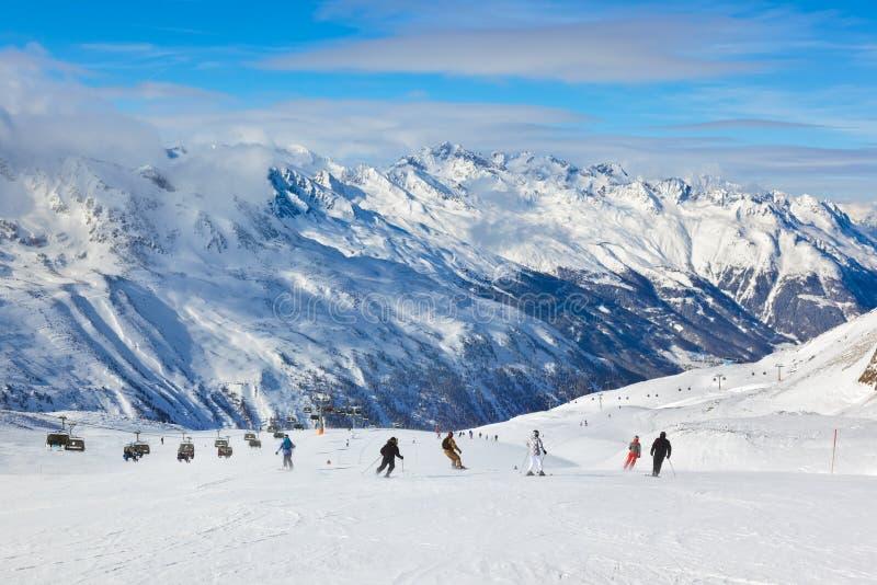 Mountain ski resort Hochgurgl Austria stock photo