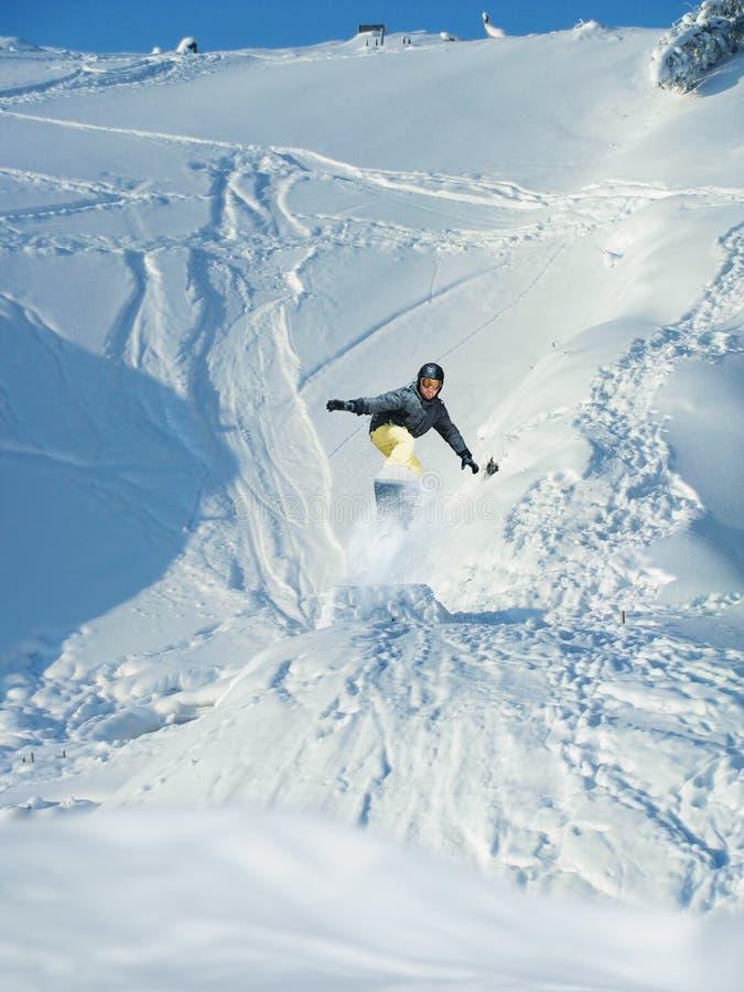 Mountain-skier Jump Stock Image